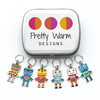 Pretty Warm Stitch Markers - Robot