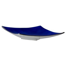 Blue aluminium angular platter