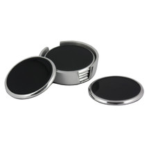 Black Coasters Set of 6