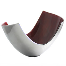Red Large Abstract Bowl