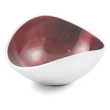Red 13cm Oval Bowl