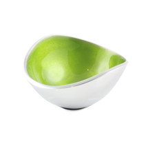 Lime 13cm Oval Bowl