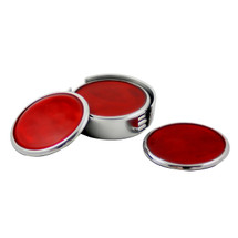 Red Ember Coasters Set of 6