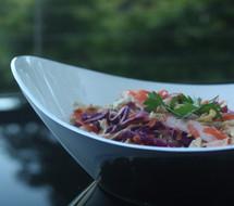 White salad bowl