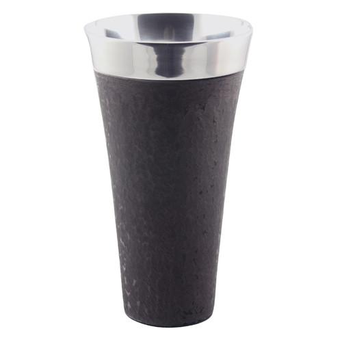 Dark Granite Finish Tapered Vase