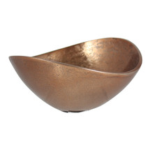 Rough Copper 17cm Oval Bowl
