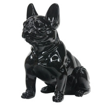 Frenchie - Sitting French Bulldog - Black Gloss