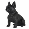 Frenchie - Sitting French Bulldog - Matte Black - 4