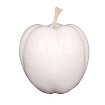 Apple Sculpture - White - 34cm x 28cm