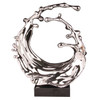 Barrel Wave Sculpture - Chrome