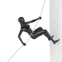 Climbing Woman Matte Black
