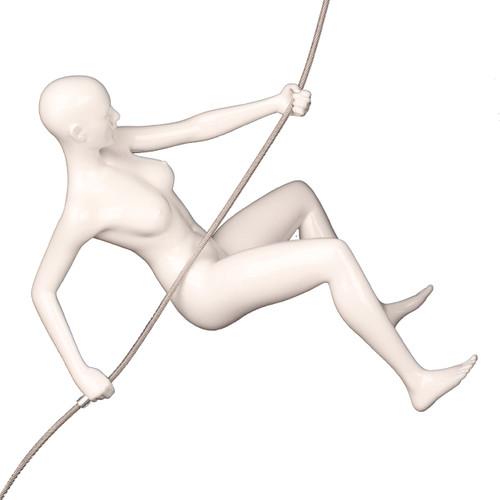 Climbing Woman White