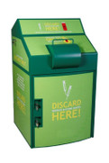 Sharps Collection Kiosk, shown with decals.