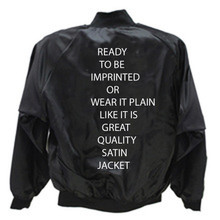 Satin Jackets Blank Black