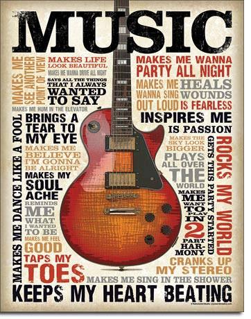 Music Inspires MeTin Sign