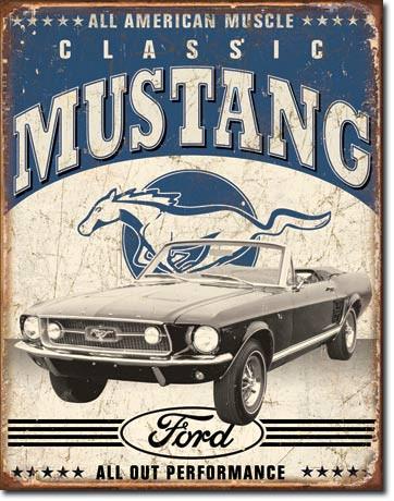 Classic Mustang Tin Sign