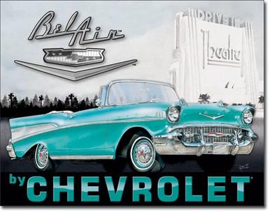 1957 Chevy Bel Air Tin Sign