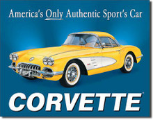 CHEVY - '58 Vette Tin Sign