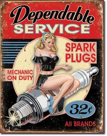 Dependable Service Tin Sign
