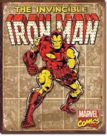 Iron Man - Retro Panels Tin Sign