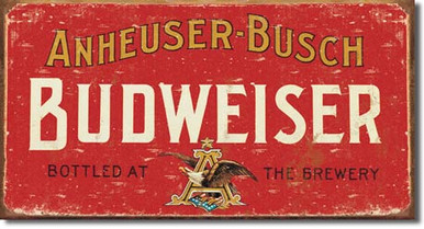 Budweiser - Weathered Tin Sign