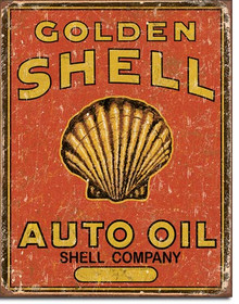 Shell Auto Oil Tin Sign