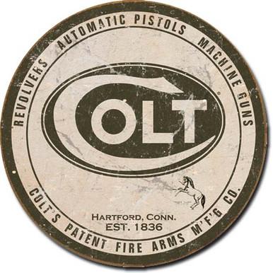 Round Logo Tin Sign