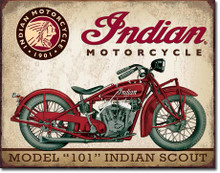 Indian Scout Tin Sign