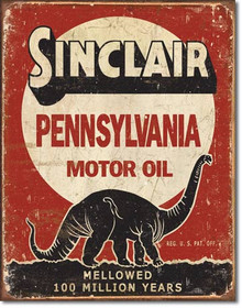 Sinclair - Million Year Tin Sign