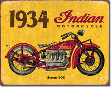 1934 Indian Tin Sign