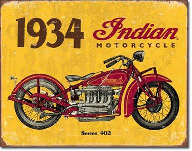 1934 Indian Tin Sign