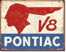 Pontiac V8 Tin Sign