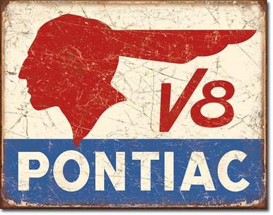 Pontiac V8 Tin Sign