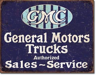 GMC Trucks - Authorized Tin Sign