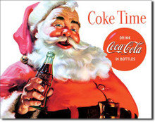 COKE Santa - COKE Time Tin Sign