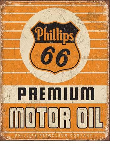 Phillips 66 Premium Oil Tin Sign