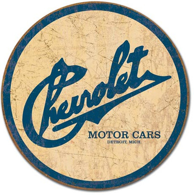 Chevy Historic Logo Tin Sign
