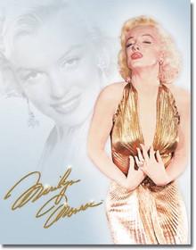 Monroe - Gold Dress Tin Sign
