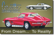 CHEVY - Corvette Stingray Tin Sign