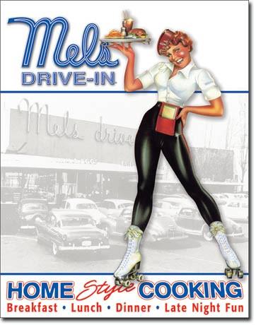 Mels Diner - Car Hop Tin Sign