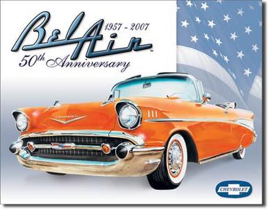 Bel Air - 50th Anniversary Tin Sign