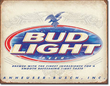 BUD Light Retro Tin Sign