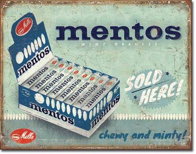 Mentos - Sold Here Tin Sign