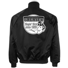 Black Satin Jacket Greaser
