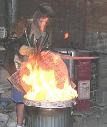 Raku Art's Copper Matte Raku Glaze  (20 pounds)