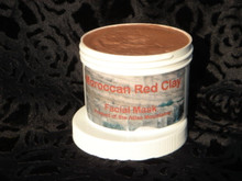 Moroccan Red Clay 8 Ounce Jar