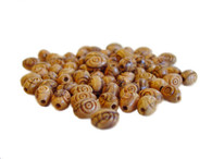 Olive Wood Oval Carved Beads 9mm (80 beads).