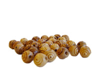 Olive Wood Round Carved Beads 15mm (80 beads).
