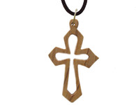 Olive Wood Cross Pendant. (1.7 inches in Height)