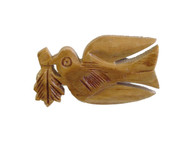 Olive Wood Brooch Dove Of Peace.(1 inches in Height)